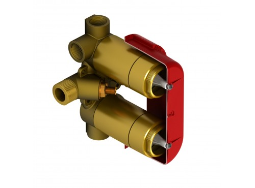 Riobel -4-way double coaxial valve rough without cartridge - R46