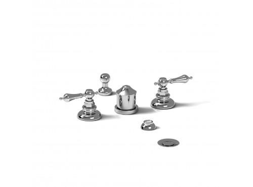 Riobel -4-piece bidet faucet with integrated vacuum breaker - RO09L