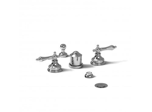 Riobel -4-piece bidet faucet with integrated vacuum breaker - RT09L