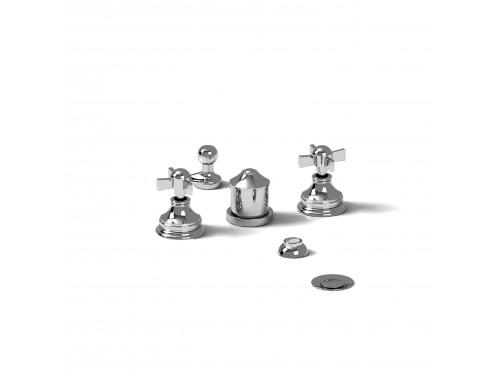 Riobel -4-piece bidet faucet with integrated vacuum breaker - RT09X
