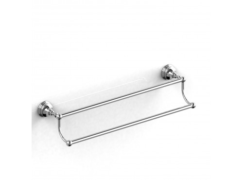 "Riobel -60 cm (24"") double towel bar - RT6"