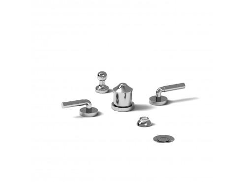Riobel -4-piece bidet faucet with integrated vacuum breaker - RU09L