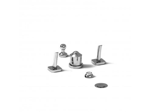 Riobel -4-piece bidet faucet with integrated vacuum breaker - SA09
