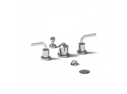 Riobel -4-piece bidet faucet with integrated vacuum breaker - SHTM09L