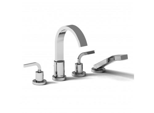 Riobel -4-piece deck-mount tub filler with hand shower - SHTM12LC Chrome