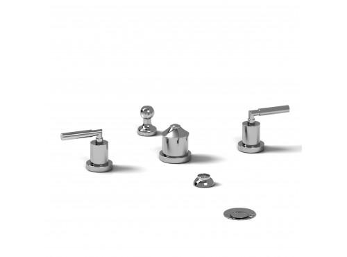 Riobel -4-piece bidet faucet with integrated vacuum breaker - SY09L