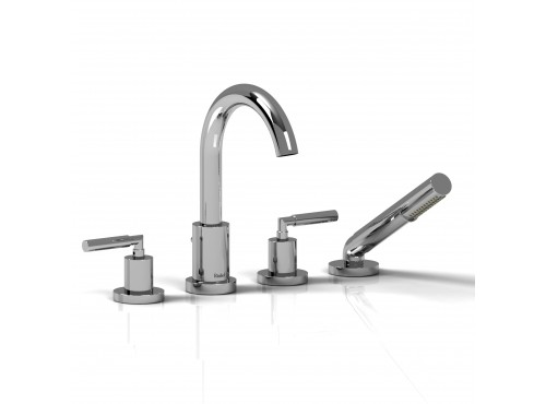 Riobel -4-piece deck-mount tub filler with hand shower - SY12L