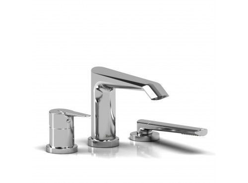 Riobel -3-piece deck-mount tub filler with hand shower - VY10C Chrome