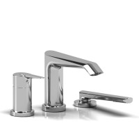 Riobel -3-piece pressure balance deck-mount tub filler with hand shower - VY16C Chrome