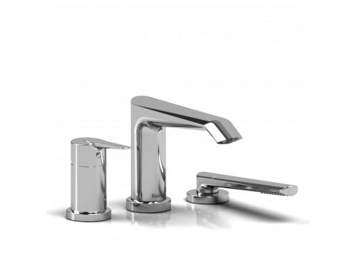 Riobel -3-piece pressure balance deck-mount tub filler with hand shower - VY16C Chrome
