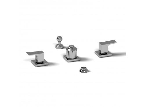Riobel -4-piece bidet faucet with integrated vacuum breaker - ZO09