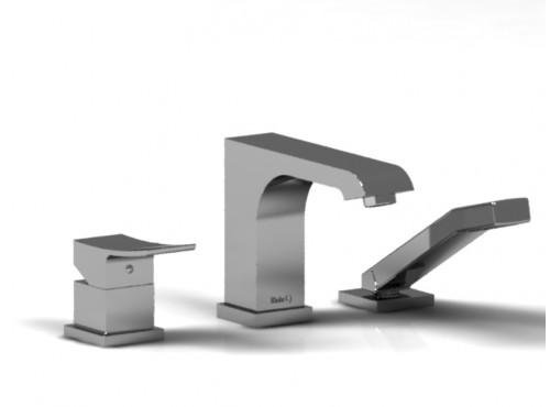 Riobel -3-piece deck-mount tub filler with hand shower - ZO10