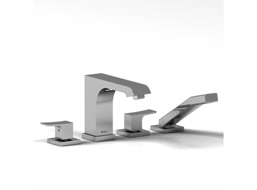 Riobel -4-piece deck-mount tub filler with hand shower - ZO12
