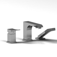 Riobel -3-piece pressure balance deck-mount tub filler with hand shower - ZO16