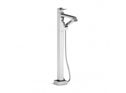 Riobel -Floor-mount coaxial tub filler with hand shower trim  - TZO37
