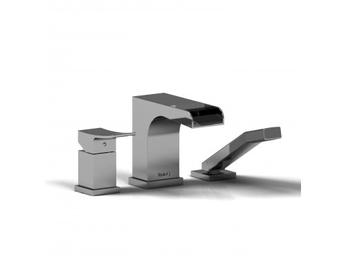 Riobel -3-piece Type P deck-mount tub filler open spout with hand shower - ZOOP16