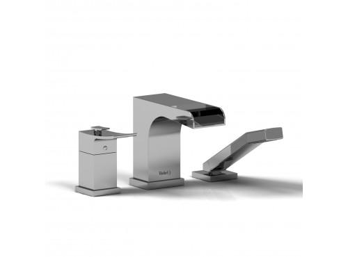 Riobel -3-piece coaxial deck-mount open spout tub filler w/ hand shower - ZOOP17