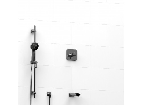 """Riobel -½"""" 2-way coaxial system with spout and hand shower rail - KIT#1223SA"""