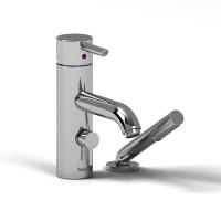 Riobel -2-piece deck-mount tub filler with hand shower - VS02