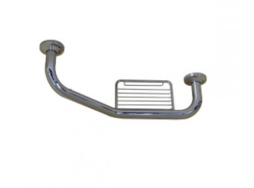 Grab bar with soap dish.