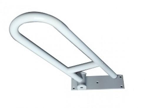 Bow-type handrail, wall mount folding.