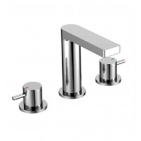 Double-handle lever lavatory faucet