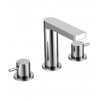 Double-handle lever lavatory faucet