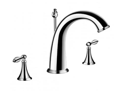 Double-handle lavatory faucet