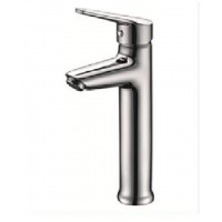 Single-handle vessel sink faucet
