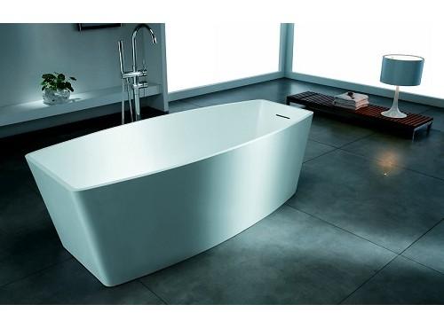 Freestanding poly marble bathtub