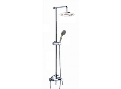 Pressure balance shower column with spout