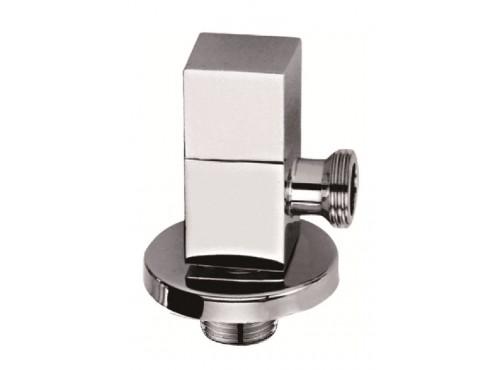 Elbow supply with shut-off valve