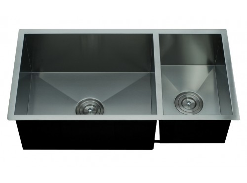Double metal sink for kitchen