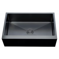 Single metal sink for kitchen