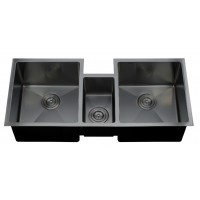 Triple under mount kitchen sink